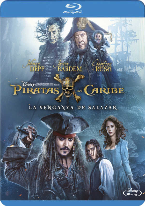 piratas del caribe. la venganza de salazar - blu ray --8717418505370