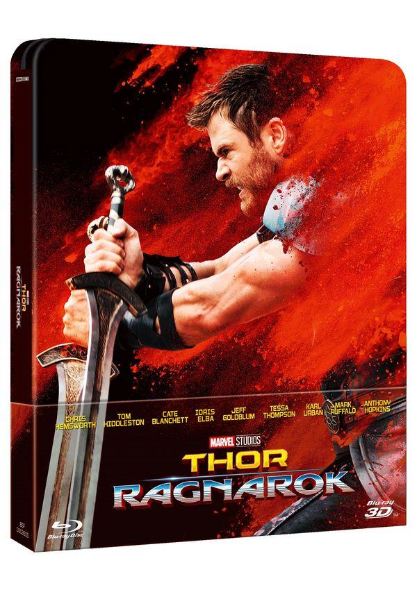 thor: ragnarok - blu ray 3d - steelbook-8717418522322