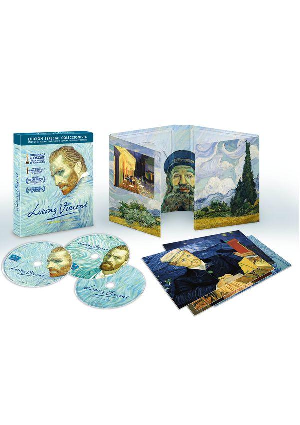 loving vincent - blu ray+dvd+bso - ed.especial coleccionista-8437018193240