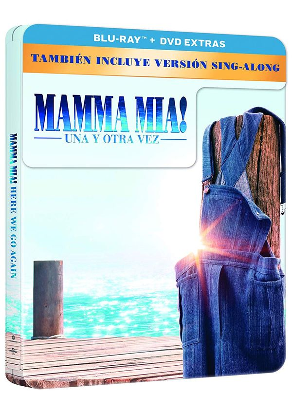mamma mia! una y otra vez - blu ray - ed.especial metal-8414533118620