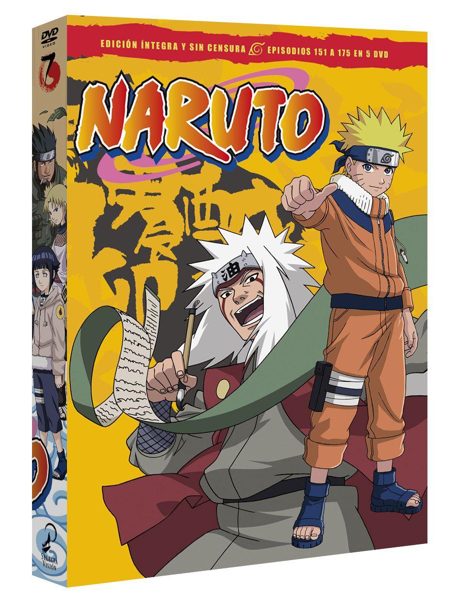naruto box 7 episodios 151 a 175 - dvd --8420266019677
